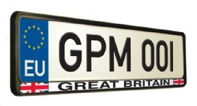 Great Britain Number Plate Surround